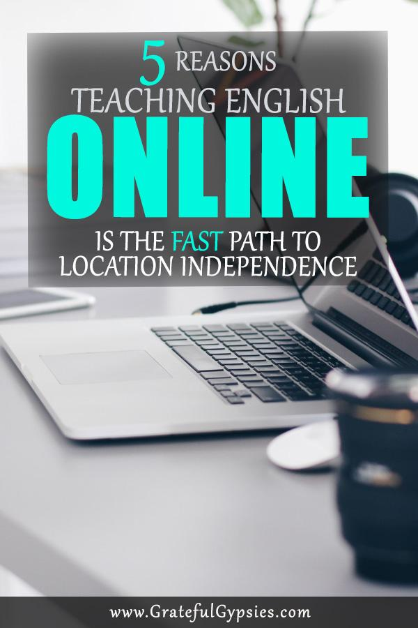 Teaching English online is the fastest way to become location independent and live a digital nomad lifestyle. Most people move abroad or travel long-term within 6 months to a year of starting to teach online. Read on to learn the 5 reasons why and how we became digital nomads by teaching English online. #teachenglish #tefl #teachesl #teachEnglishonline #onlineeducation #digitalnomads #englishteaching #englishasasecondlanguage