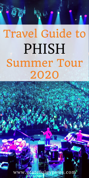 Phish summer tour 2020 consists of 27 shows spread across 11 states. Read all about each stop on the tour with hotel and restaurant recommendations in this post! #phish #livemusic #phishsummertour