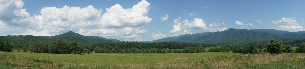 cades cove panorama great smoky mountains