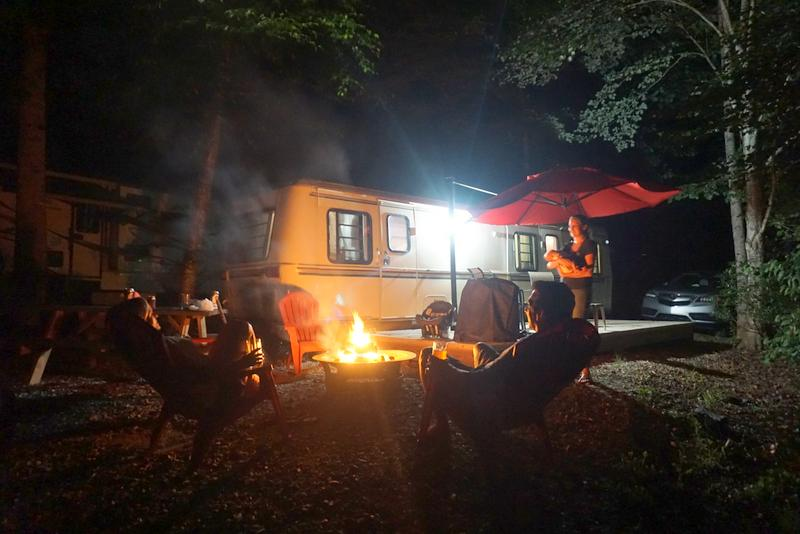 great smoky mountains vacation campfire